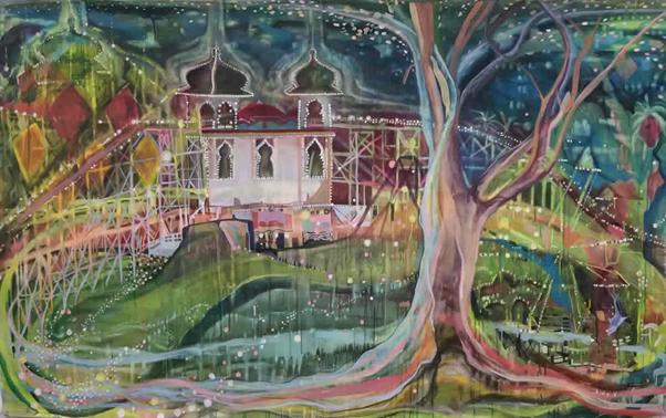 Night Walks Luna Park St Kilda 2015 Artist Enza Benincasa 150 x 240 cm